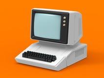 计算机老私有 免版税库存照片