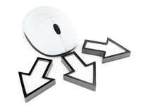 计算机老鼠和指向游标 免版税库存图片