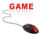计算机老鼠和比赛 库存图片