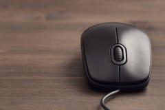 黑计算机老鼠特写镜头 库存照片
