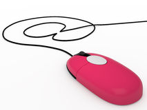 计算机老鼠, 3D 免版税库存照片