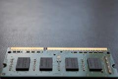 计算机膝上型计算机个人计算机记忆RAM DDR 免版税库存照片