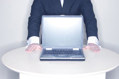 计算机膝上型计算机介绍 库存图片