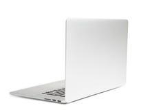 计算机膝上型计算机白色 免版税库存照片