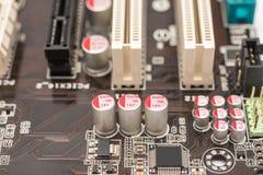 计算机芯片电容器和电阻器 库存图片