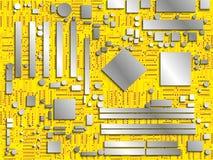 计算机芯片盘区 常规图象 也corel凹道例证向量 主板的有条件图象用不同的颜色 皇族释放例证