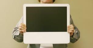 计算机藏品人 免版税图库摄影