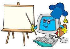 计算机表教师 库存图片