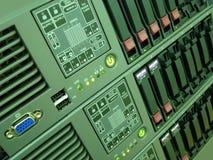 计算机被挂接的机架服务器 免版税库存图片