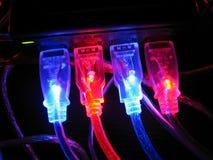 计算机连接数绳子 库存图片