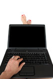 计算机透视图s用户 免版税图库摄影