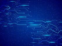 计算机通信计算机控制学的元素 电路板传染媒介 向量例证
