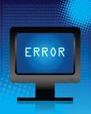 计算机错误 免版税库存图片