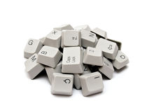 计算机键盘关键字 免版税库存照片