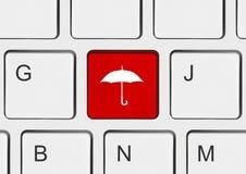 计算机键盘关键董事会伞 库存图片