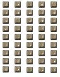 计算机键盘关键董事会信函编号 免版税库存图片