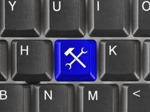 计算机键盘关键董事会工具 库存照片