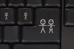 计算机键盘关键董事会微笑 库存图片