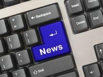 计算机键盘关键董事会新闻 免版税图库摄影