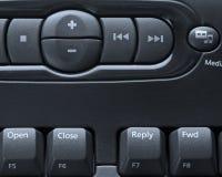 计算机键盘媒体 免版税库存照片