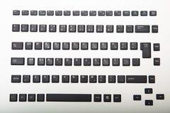 计算机键盘的宽松字母数字的盖子 库存图片