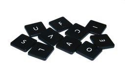 计算机键盘被分类的字母表 免版税库存图片