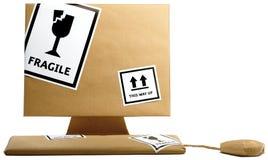 计算机键盘被包裹的鼠标路径 免版税库存照片