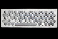 计算机键盘银 图库摄影