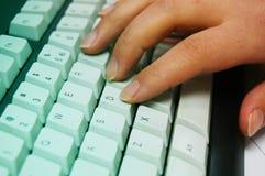 计算机键盘键入 库存图片