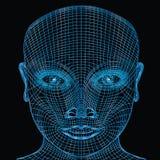 计算机面孔 免版税库存图片