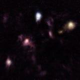 计算机领域模糊的被生成的星形 库存图片