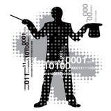 计算机魔术师 库存例证