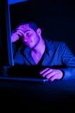 计算机黑客 免版税库存图片