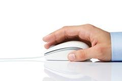 计算机鼠标侧视图 库存图片