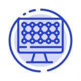 计算机,技术,硬件蓝色虚线线象 皇族释放例证
