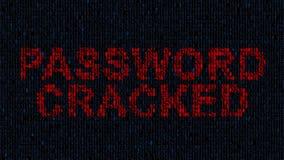 计算机黑客数字式恐怖主义Steeling私有信息罪行网络 皇族释放例证