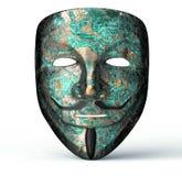 计算机黑客的电子面具 库存例证