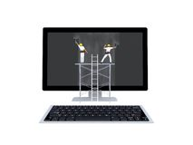 计算机维护概念 免版税库存照片