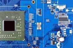 计算机主板, CPU插口 免版税图库摄影