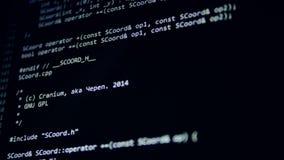 计算机攻击概念 黑客在真正空间编码赛跑 4K 股票视频