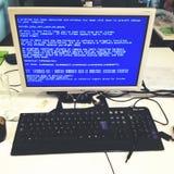 计算机崩溃错误 库存图片