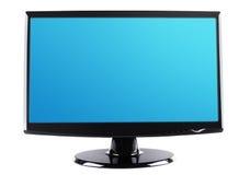 计算机/电视在白色隔绝的显示屏。 库存照片