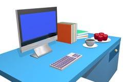 计算机3d 免版税库存图片