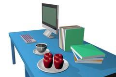 计算机3d 免版税库存照片