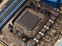 计算机cpu主板插口 免版税库存图片