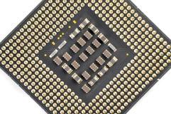 计算机CPU单位特写镜头 免版税库存图片