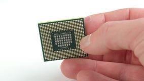 计算机CPU特写镜头 股票录像