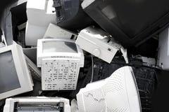 计算机crt五金器具工业监控程序回收 库存照片