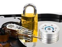 计算机harddrive锁定 库存照片
