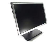 计算机lcd宽显示器屏幕 免版税库存照片